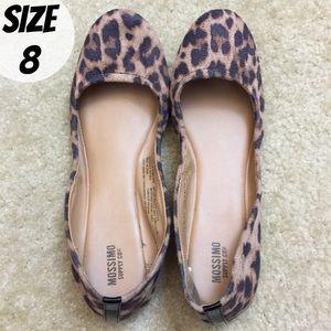 EUC Mossimo 8 Leopard Print TAN Ballet Flats
